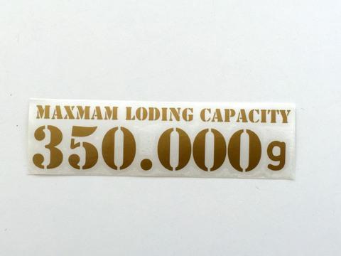 最大積載量ステッカー(ブラック・シルバー・ゴールド)