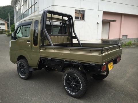 【CARRY】DA16T ダブルチューブロールバー スチールブラック 標準車用